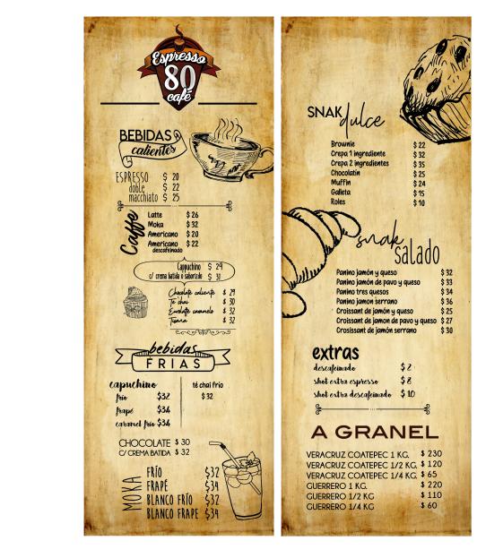 expresso80 menu
